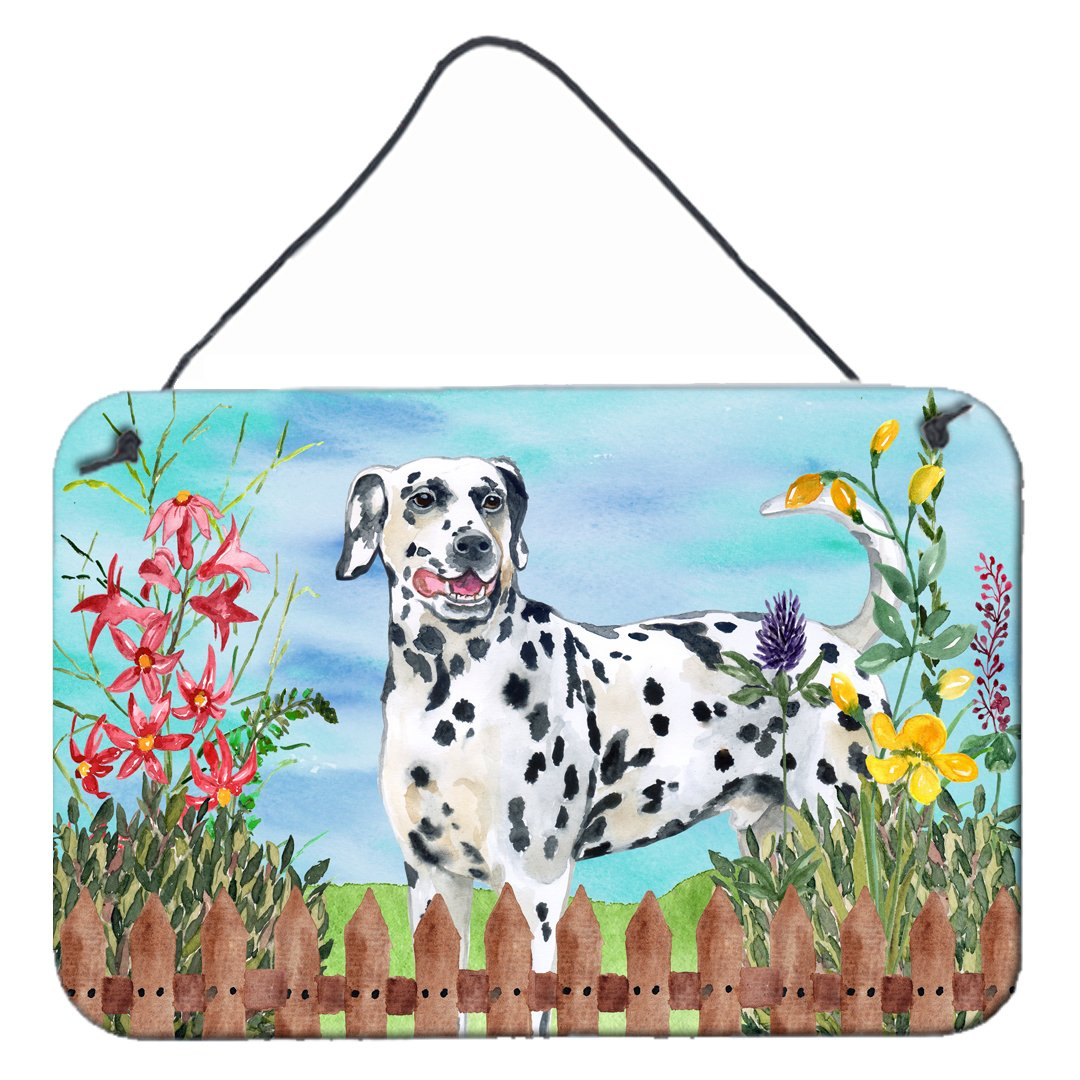 Dalmatian Spring Wall or Door Hanging Prints CK1215DS812 by Caroline's Treasures