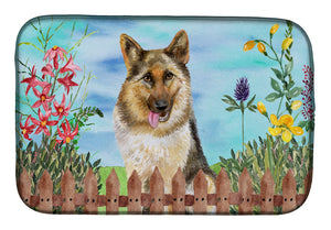 Buy this German Shepherd Spring Dish Drying Mat CK1216DDM