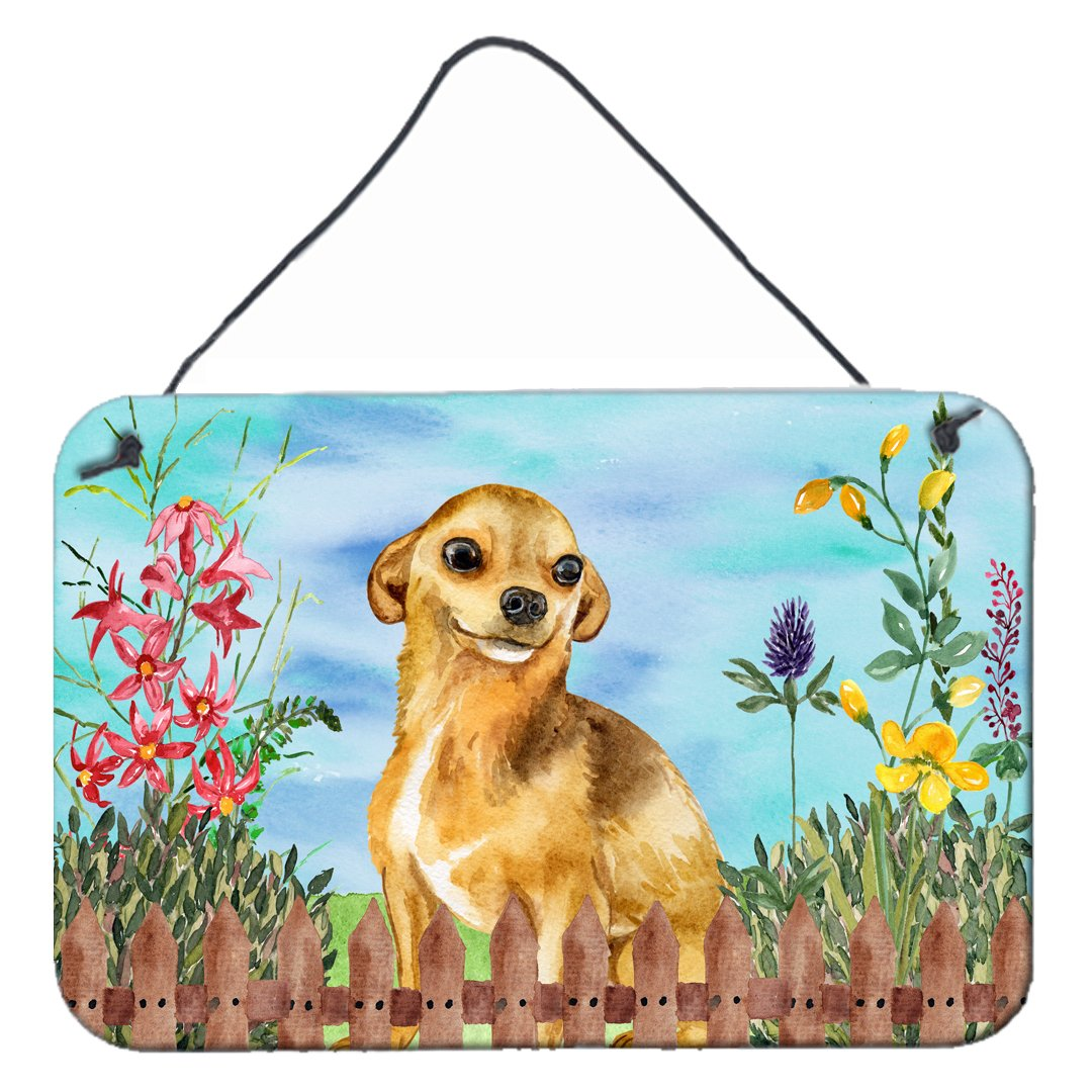 Chihuahua Spring Wall or Door Hanging Prints CK1220DS812 by Caroline's Treasures
