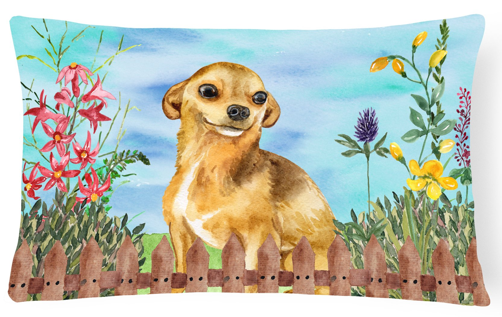 Chihuahua Spring Canvas Fabric Decorative Pillow CK1220PW1216 by Caroline's Treasures