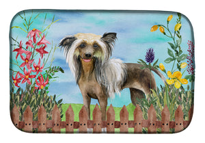Buy this Chinese Crested Spring Dish Drying Mat CK1221DDM