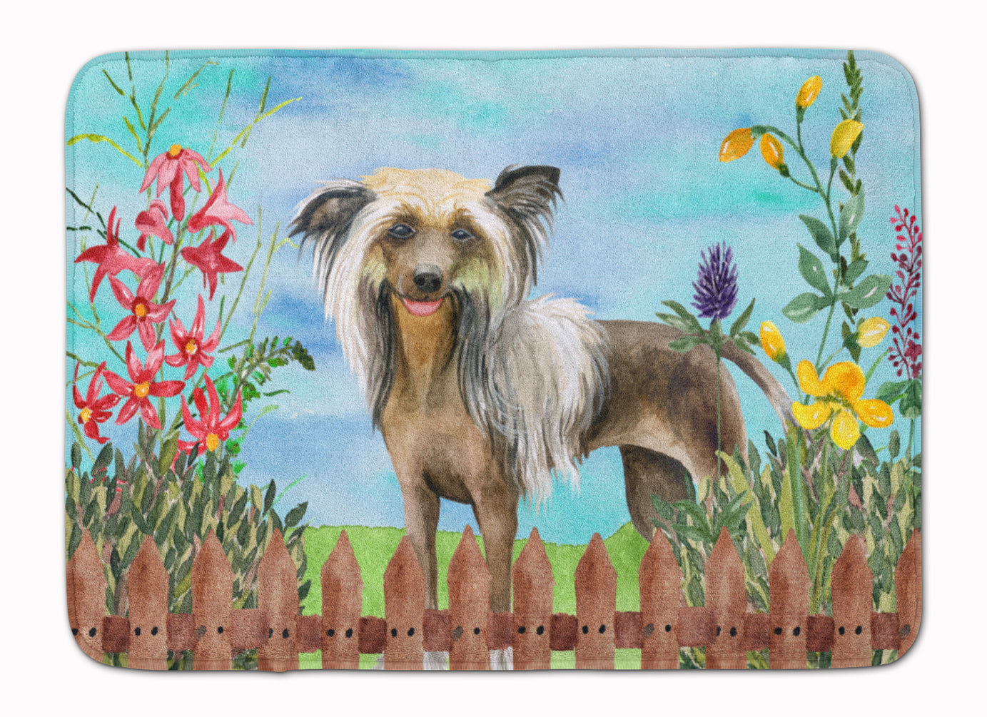 Chinese Crested Spring Machine Washable Memory Foam Mat CK1221RUG by Caroline's Treasures