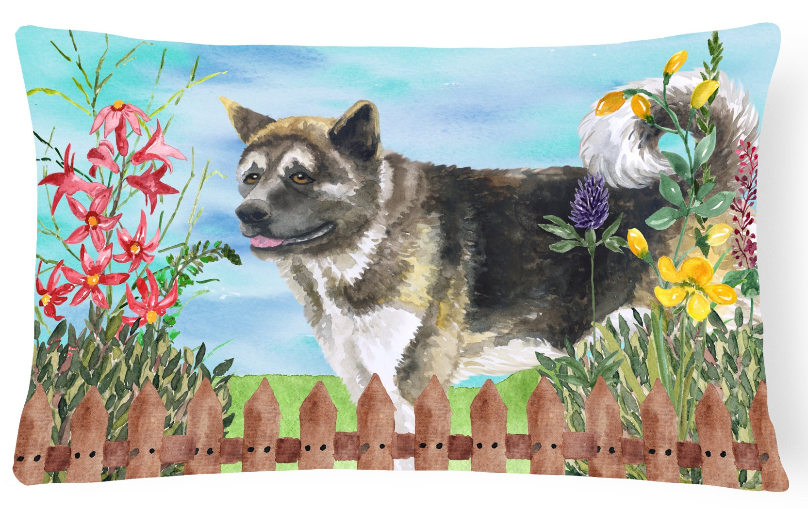 American Akita Spring Canvas Fabric Decorative Pillow CK1231PW1216 by Caroline's Treasures
