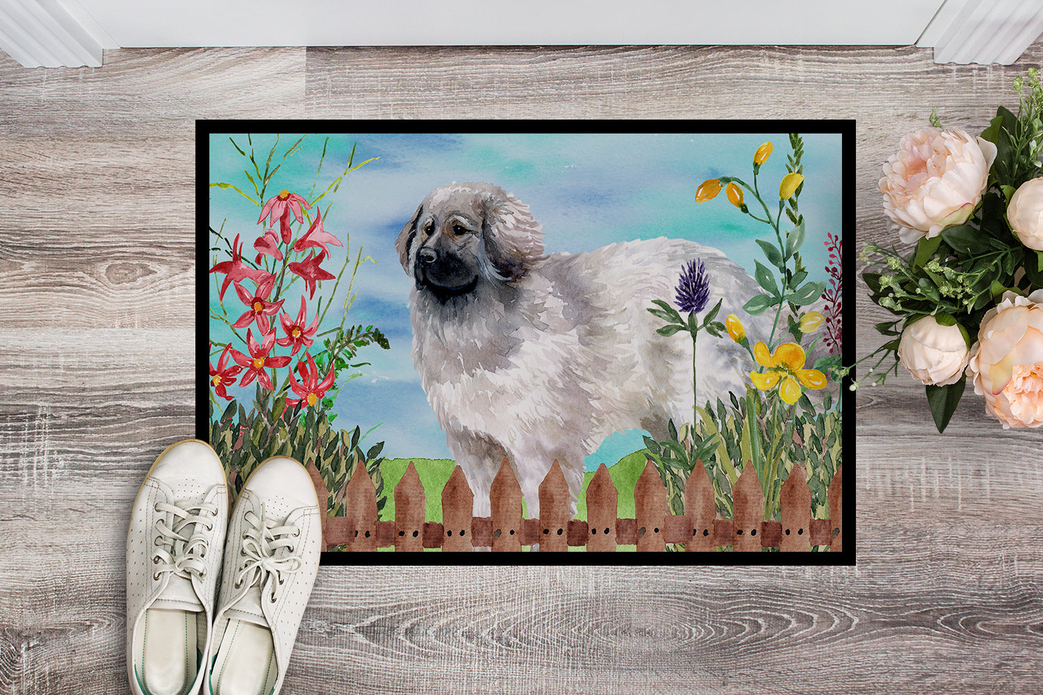 Moscow Watchdog Spring Indoor or Outdoor Mat 18x27 CK1235MAT by Caroline's Treasures