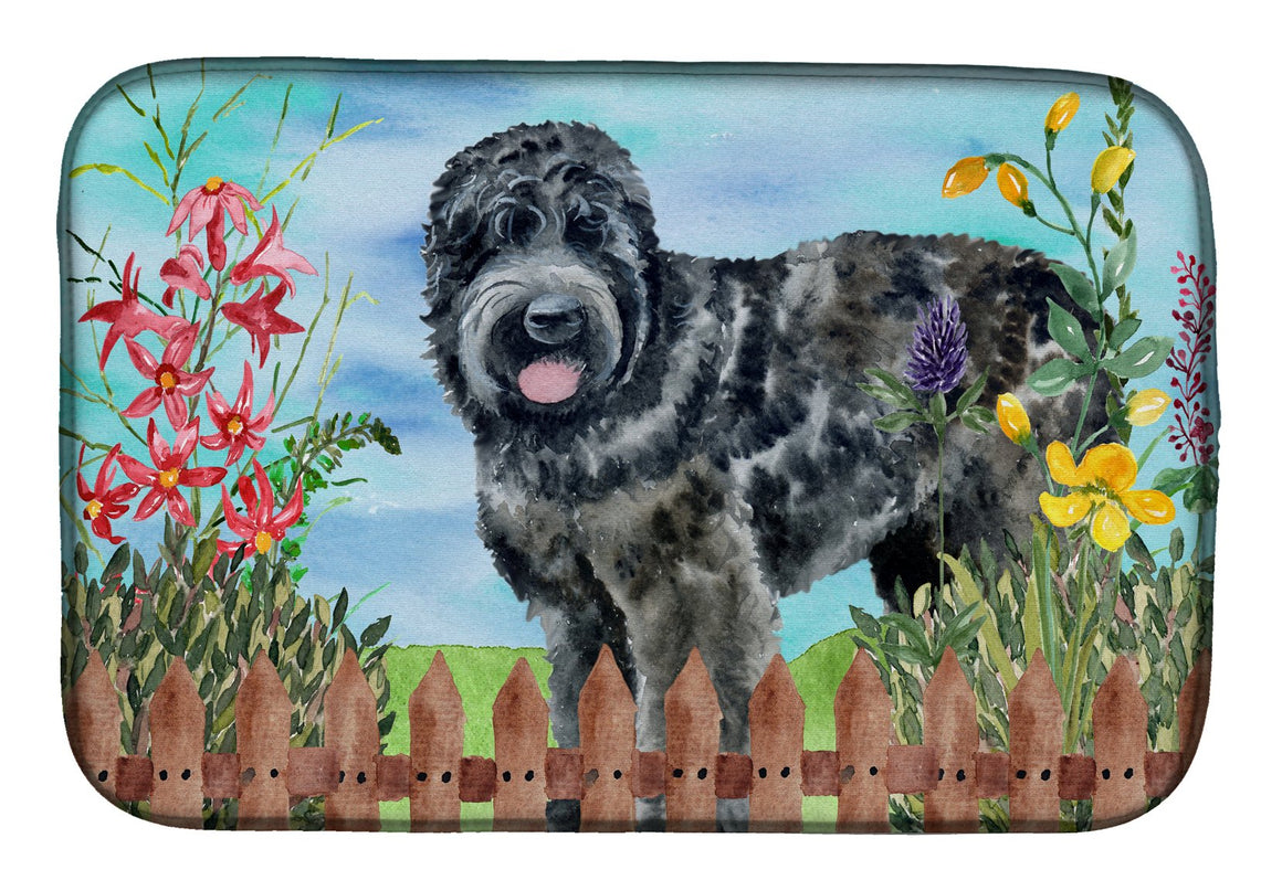 Buy this Black Russian Terrier Spring Dish Drying Mat CK1239DDM