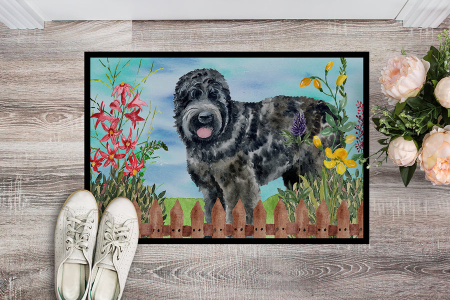 Buy this Black Russian Terrier Spring Indoor or Outdoor Mat 18x27 CK1239MAT