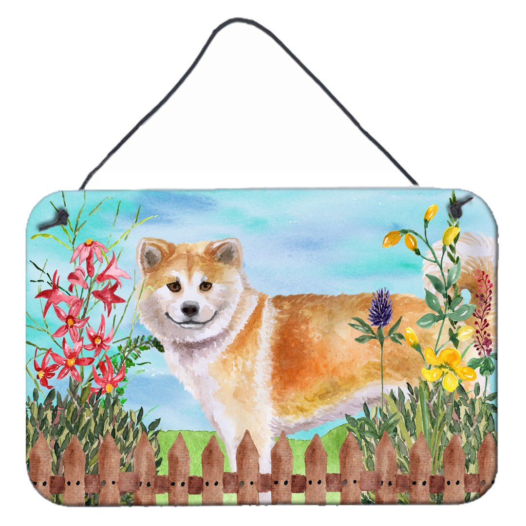 Shiba Inu Spring Wall or Door Hanging Prints CK1240DS812 by Caroline's Treasures