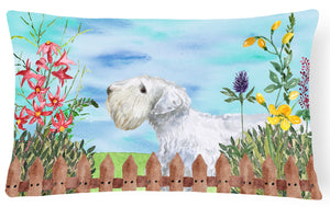 Buy this Sealyham Terrier Spring Canvas Fabric Decorative Pillow CK1246PW1216
