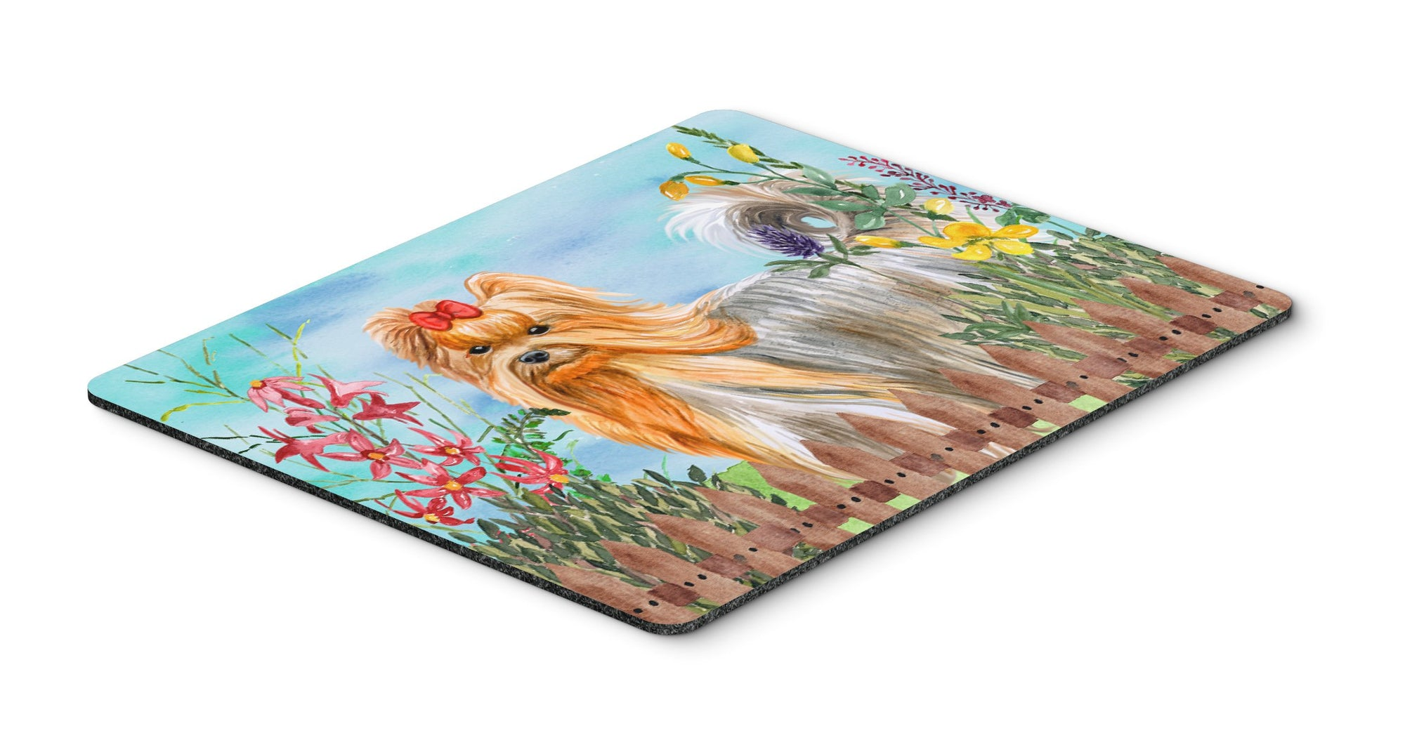 Buy this Yorkshire Terrier Spring Mouse Pad, Hot Pad or Trivet CK1247MP