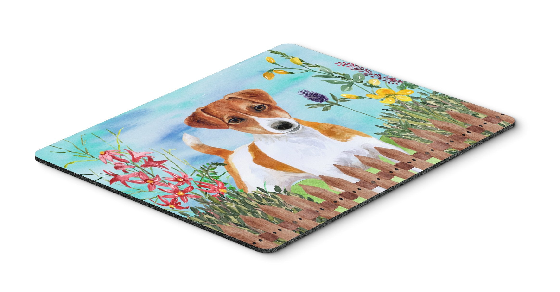 Jack Russell Terrier Spring Mouse Pad, Hot Pad or Trivet CK1251MP by Caroline's Treasures