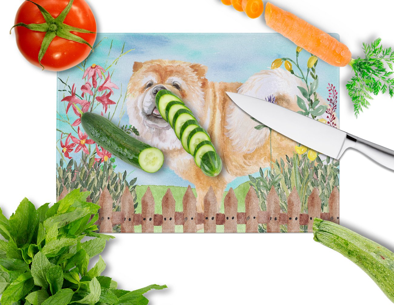 Cane Corso Spring Glass Cutting Board Large CK1257LCB by Caroline's Treasures