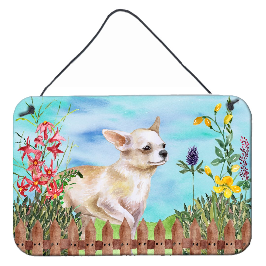 Chihuahua Leg up Spring Wall or Door Hanging Prints CK1259DS812 by Caroline's Treasures