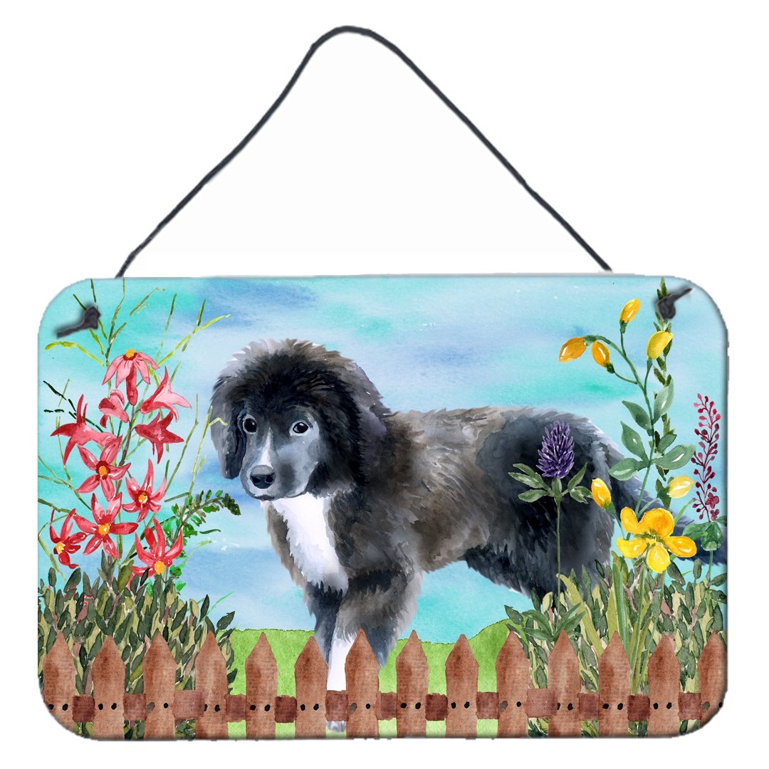 Newfoundland Puppy Spring Wall or Door Hanging Prints CK1261DS812 by Caroline's Treasures