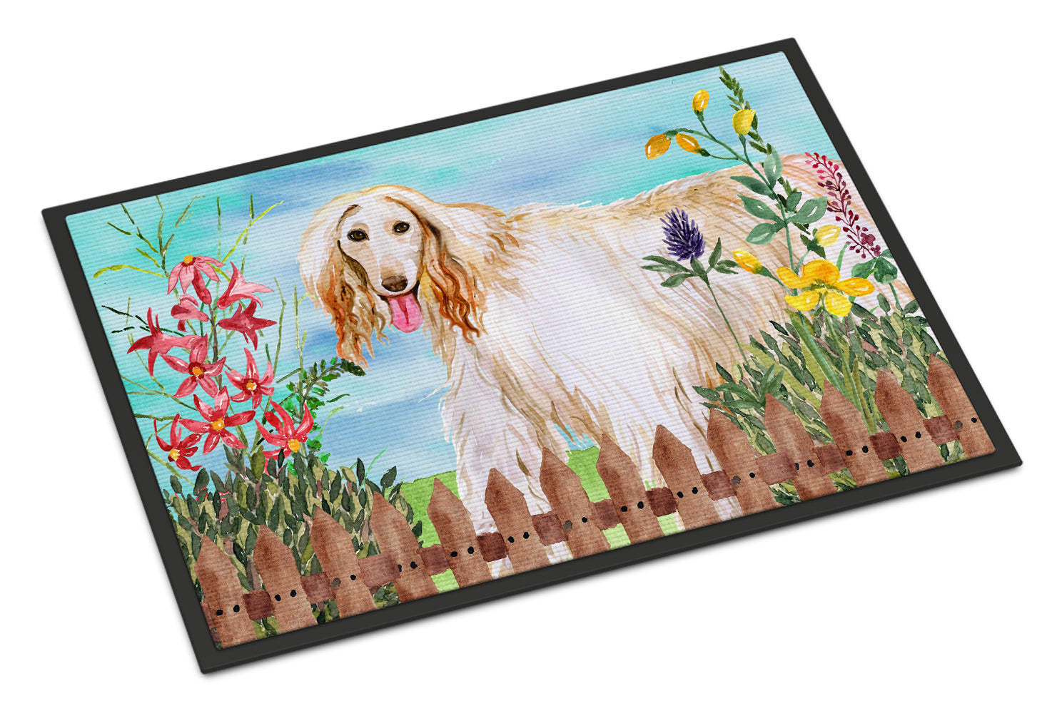 Afghan Hound Spring Indoor or Outdoor Mat 18x27 CK1264MAT by Caroline's Treasures