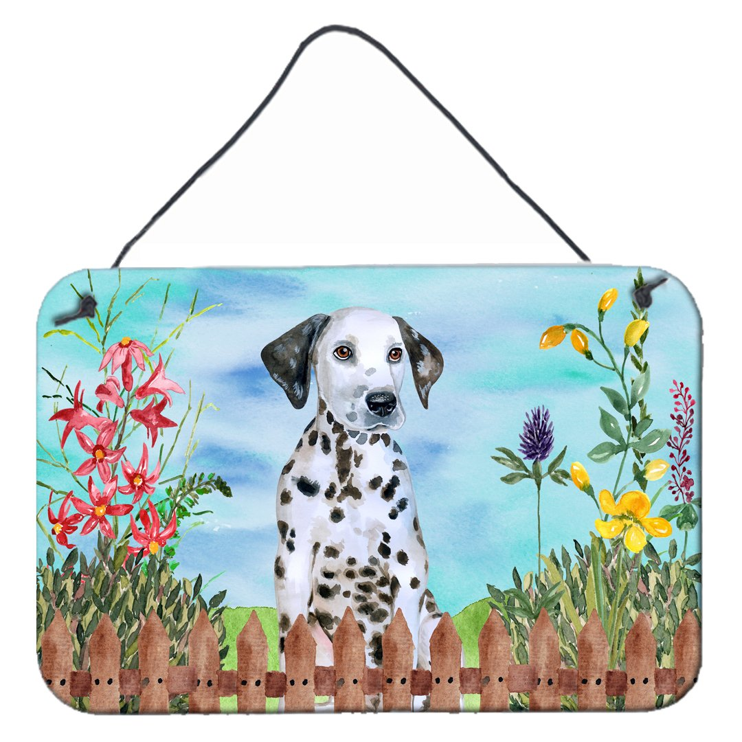 Dalmatian Puppy Spring Wall or Door Hanging Prints CK1270DS812 by Caroline's Treasures