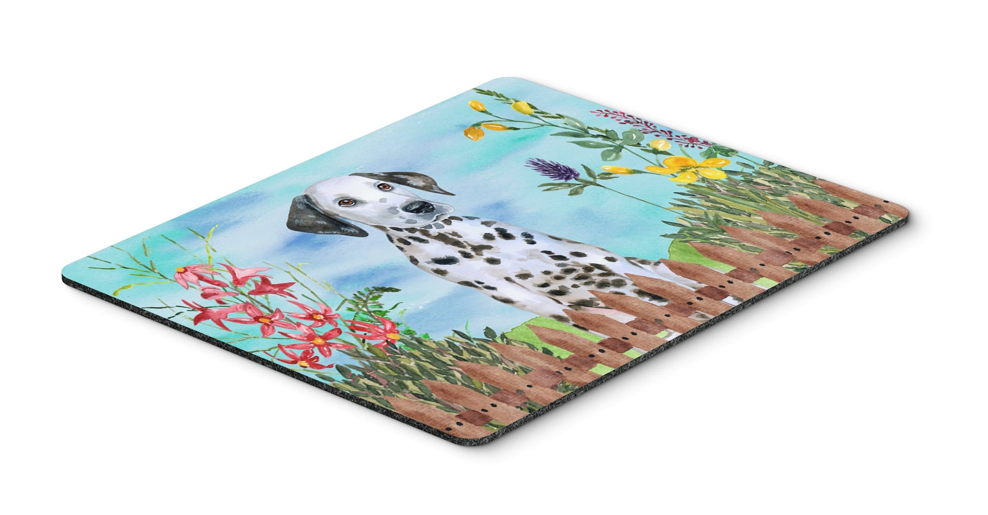Dalmatian Puppy Spring Mouse Pad, Hot Pad or Trivet CK1270MP by Caroline's Treasures