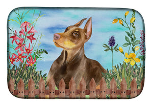 Buy this Doberman Pinscher Spring Dish Drying Mat CK1271DDM