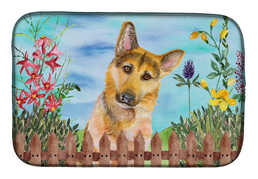 Buy this German Shepherd #2 Spring Dish Drying Mat CK1273DDM