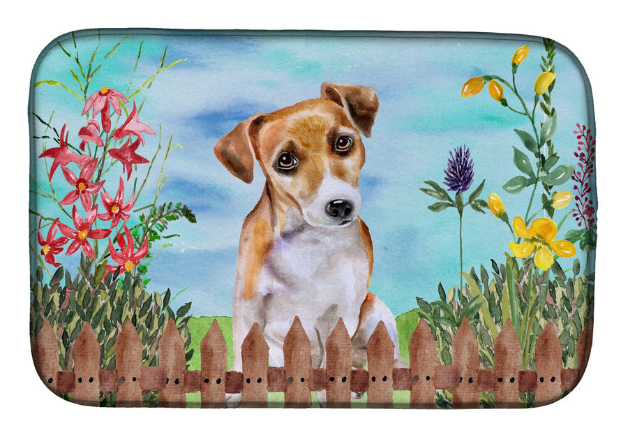 Buy this Jack Russell Terrier #2 Spring Dish Drying Mat CK1275DDM
