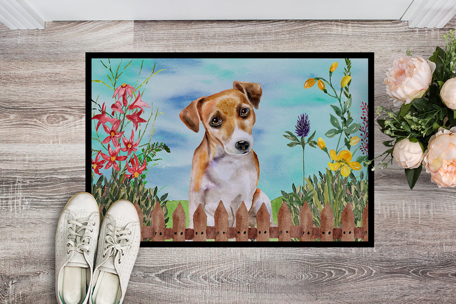 Buy this Jack Russell Terrier #2 Spring Indoor or Outdoor Mat 18x27 CK1275MAT