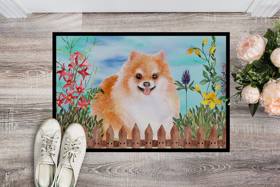 Buy this Pomeranian #2 Spring Indoor or Outdoor Mat 18x27 CK1278MAT