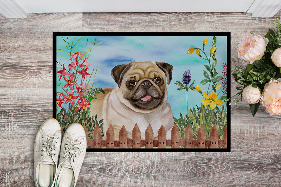 Buy this Fawn Pug Spring Indoor or Outdoor Mat 18x27 CK1280MAT