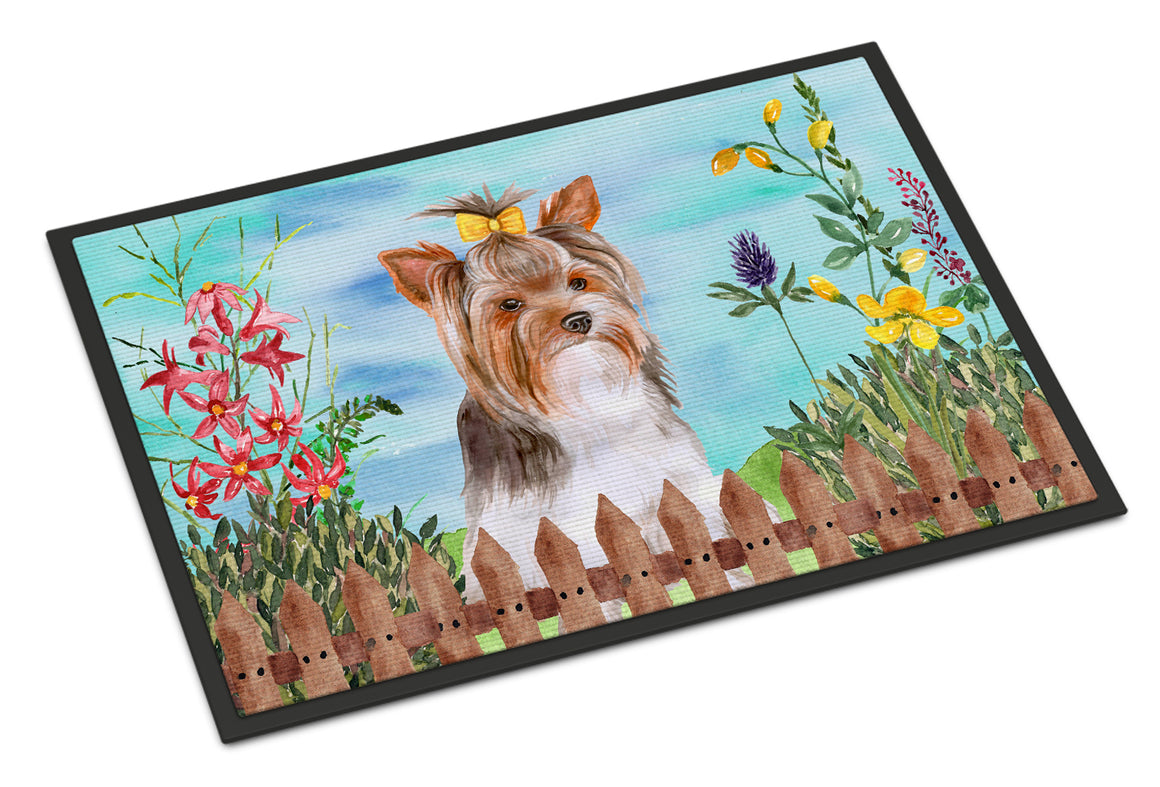 Buy this Yorkshire Terrier #2 Spring Indoor or Outdoor Mat 18x27 CK1285MAT