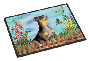 Buy this Miniature Pinscher #2 Spring Indoor or Outdoor Mat 18x27 CK1286MAT