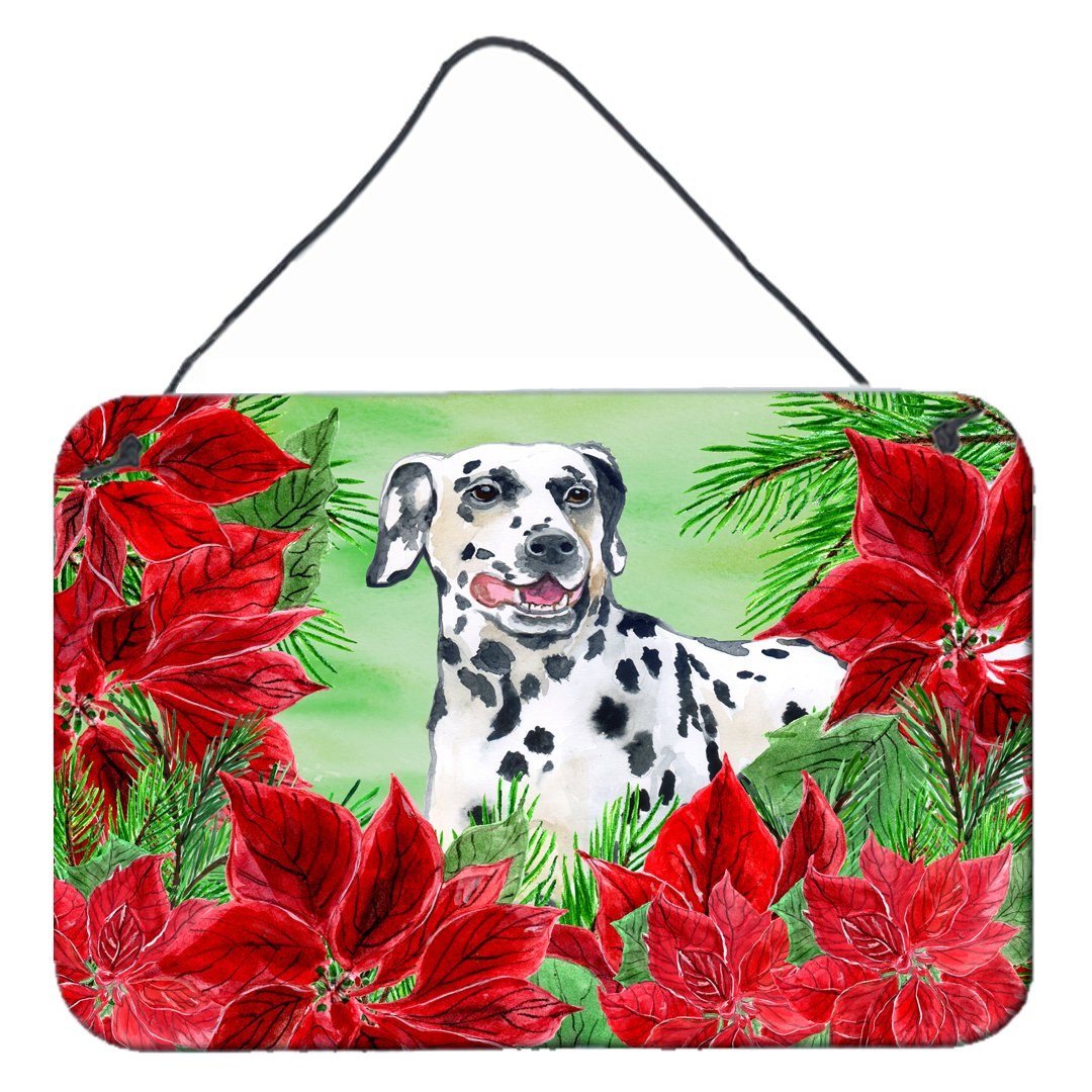 Dalmatian Poinsettas Wall or Door Hanging Prints CK1301DS812 by Caroline's Treasures