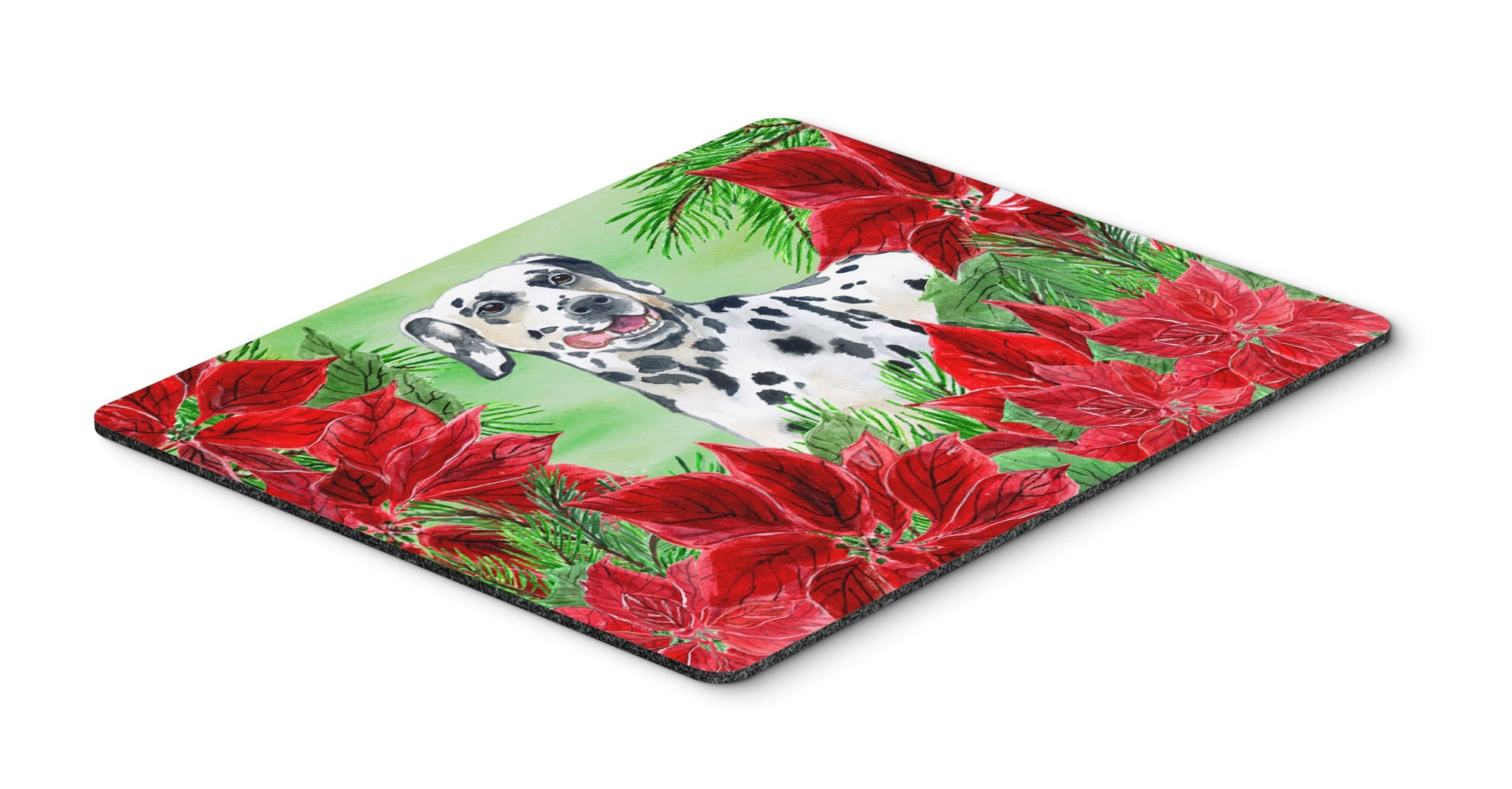 Dalmatian Poinsettas Mouse Pad, Hot Pad or Trivet CK1301MP by Caroline's Treasures