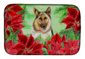 Buy this German Shepherd Poinsettas Dish Drying Mat CK1302DDM
