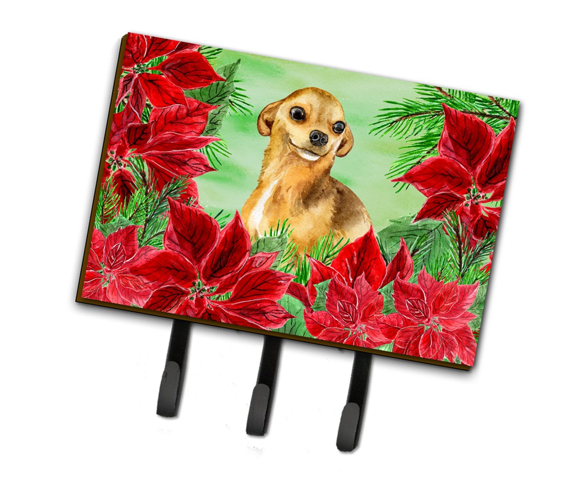 Chihuahua Poinsettas Leash or Key Holder CK1306TH68 by Caroline's Treasures