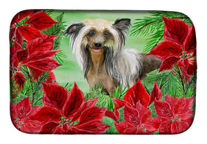 Buy this Chinese Crested Poinsettas Dish Drying Mat CK1307DDM
