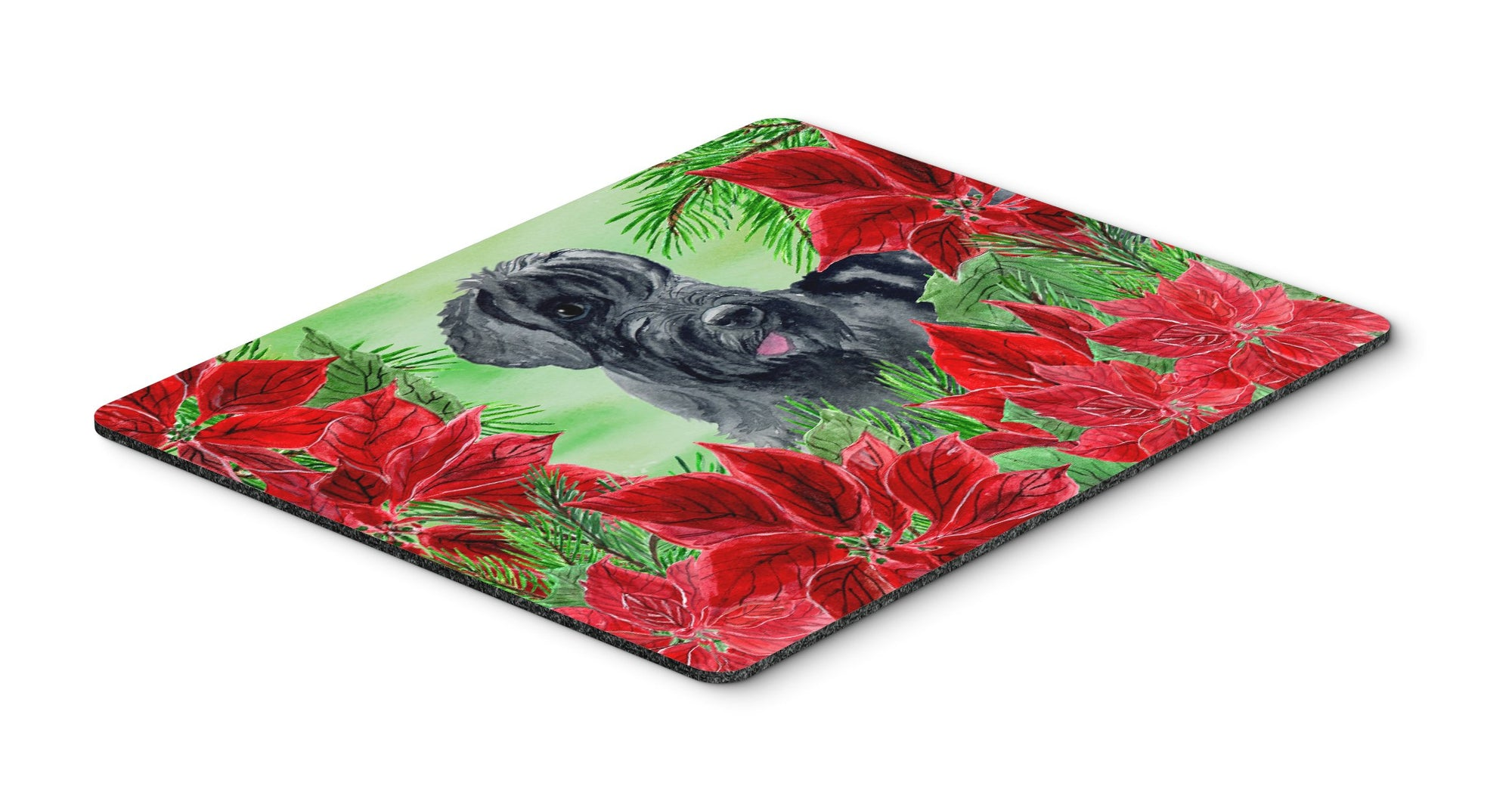 Giant Schnauzer Poinsettas Mouse Pad, Hot Pad or Trivet CK1308MP by Caroline's Treasures