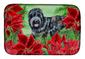 Buy this Black Russian Terrier Poinsettas Dish Drying Mat CK1325DDM
