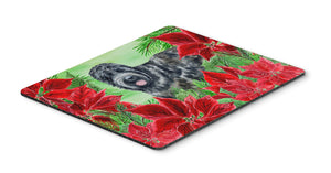 Buy this Black Russian Terrier Poinsettas Mouse Pad, Hot Pad or Trivet CK1325MP