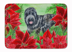 Buy this Black Russian Terrier Poinsettas Machine Washable Memory Foam Mat CK1325RUG