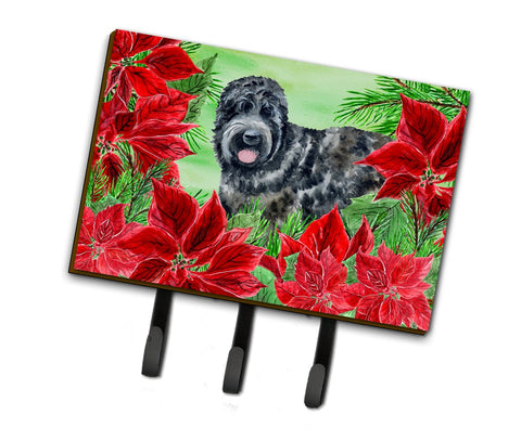 Buy this Black Russian Terrier Poinsettas Leash or Key Holder CK1325TH68
