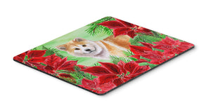 Buy this Shiba Inu Poinsettas Mouse Pad, Hot Pad or Trivet CK1326MP