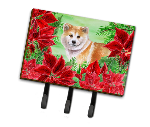 Buy this Shiba Inu Poinsettas Leash or Key Holder CK1326TH68