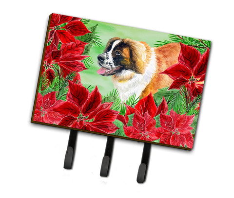 Buy this Saint Bernard Poinsettas Leash or Key Holder CK1327TH68