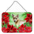 Buy this Thai Ridgeback Poinsettas Wall or Door Hanging Prints CK1328DS812