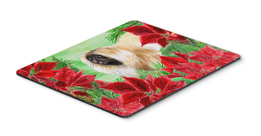 Buy this Pekingese Poinsettas Mouse Pad, Hot Pad or Trivet CK1329MP