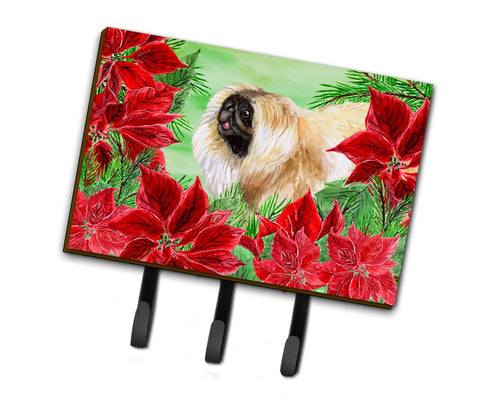 Buy this Pekingese Poinsettas Leash or Key Holder CK1329TH68