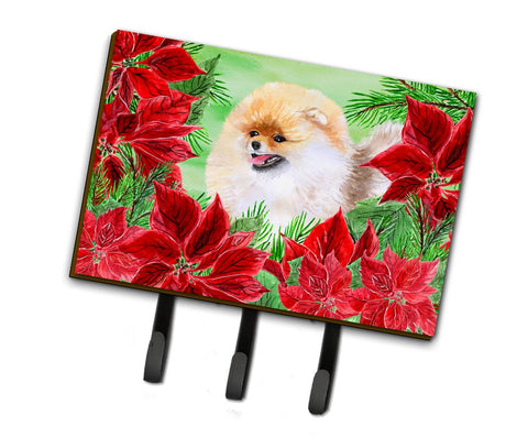 Buy this Pomeranian Poinsettas Leash or Key Holder CK1330TH68
