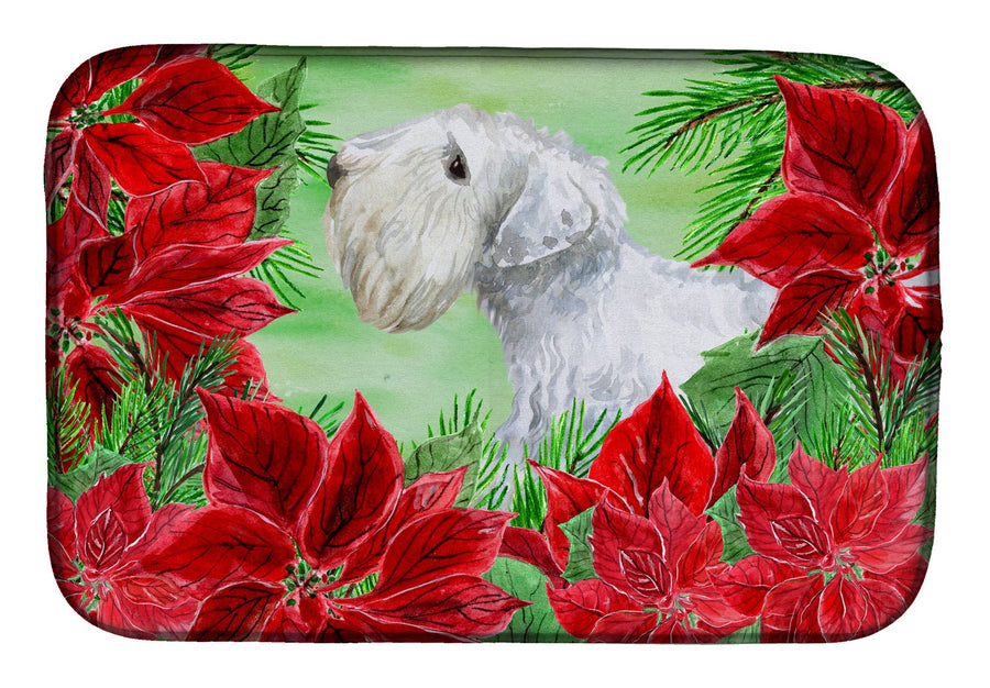 Buy this Sealyham Terrier Poinsettas Dish Drying Mat CK1332DDM