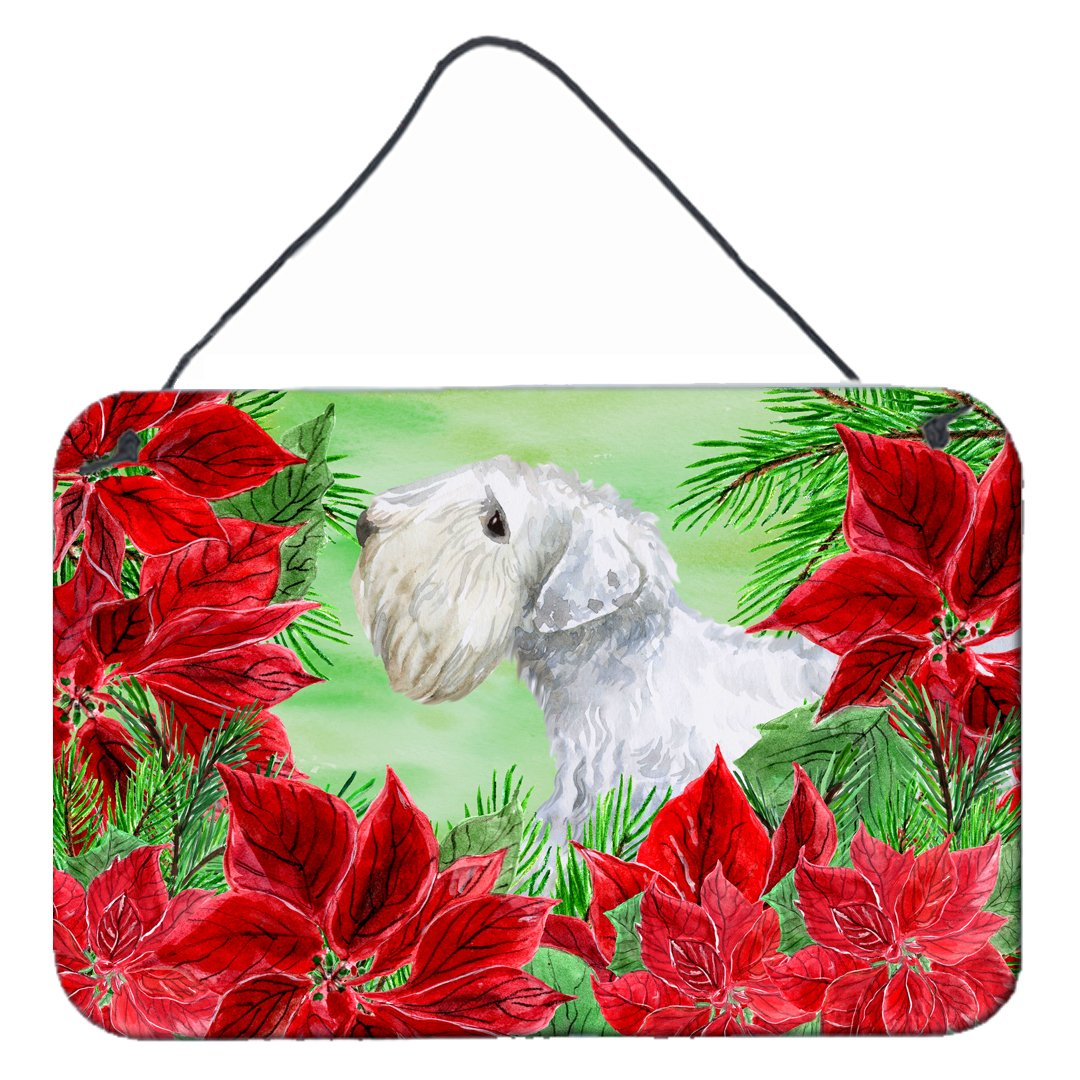 Buy this Sealyham Terrier Poinsettas Wall or Door Hanging Prints CK1332DS812