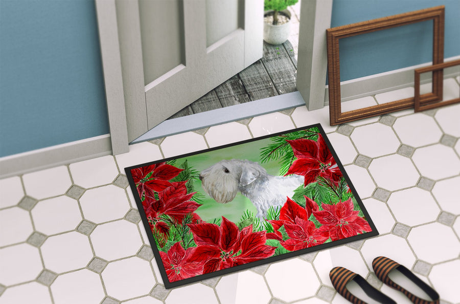 Buy this Sealyham Terrier Poinsettas Indoor or Outdoor Mat 24x36 CK1332JMAT