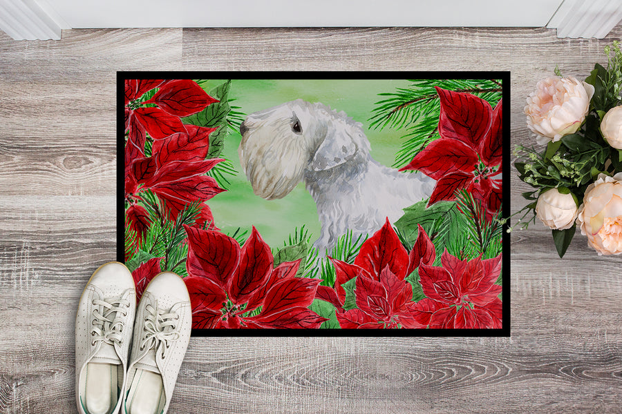 Buy this Sealyham Terrier Poinsettas Indoor or Outdoor Mat 18x27 CK1332MAT