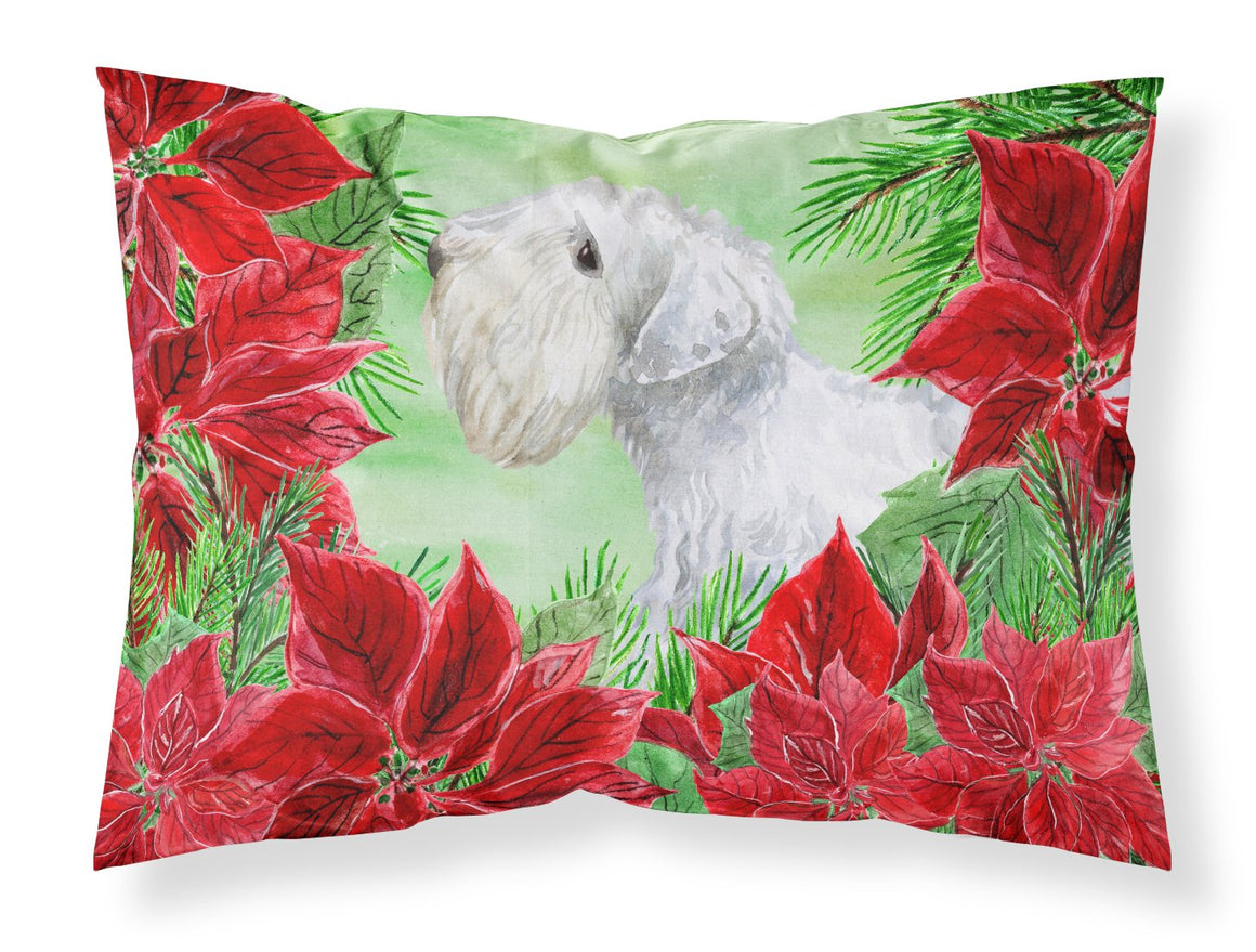 Buy this Sealyham Terrier Poinsettas Fabric Standard Pillowcase CK1332PILLOWCASE